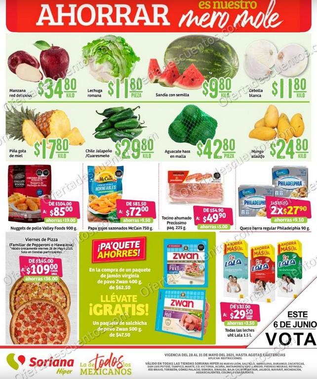 Soriana: Ofertas en Frutas y Verduras de Fin de Semana del 28 al 31 de Mayo 2021