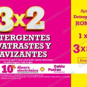 Julio Regalado 2021 Soriana: 3×2 en Todos los Detergentes, Suavizantes y Lavatrastes