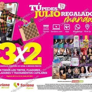 Oferta Julio Regalado 2021 Soriana: 3×2 en Todos los Tintes, Fijadores, Modeladores y Tratamientos Capilares