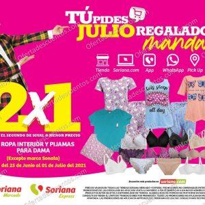 Oferta Estelar Julio Regalado 2021 Soriana: 2×1 en Ropa Interior y Pijamas para Dama