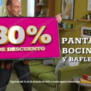 Oferta Estelar Julio Regalado 2021 Soriana: 30% de Descuento en Pantallas, Bocinas y Bafles