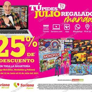 Oferta Estelar Julio Regalado 2021 Soriana: 25% de Descuento en Toda la Juguetería