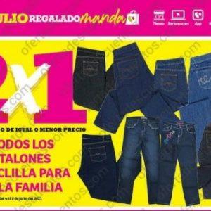 Oferta Estelar Julio Regalado 2021 Soriana: 2×1 en Todos los Pantalones de Mezclilla