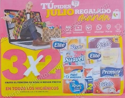 Oferta Estelar Julio Regalado 2021 Soriana: 3×2 en Todos el Papel Higiénico
