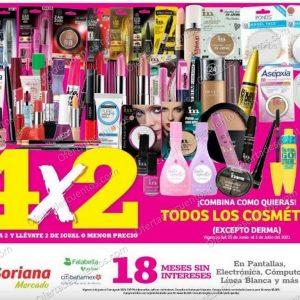 Oferta Estelar Julio Regalado 2021 Soriana: 4×2 en Todos los Cosméticos