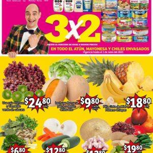 Ofertas en Frutas y Verduras Soriana Mercado del 29 de Junio al 1 de Julio 2021