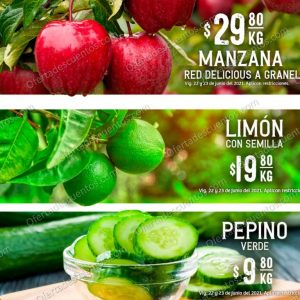 Soriana: Ofertas en Frutas y Verduras Martes y Miércoles del Campo 22 y 23 de Junio 2021