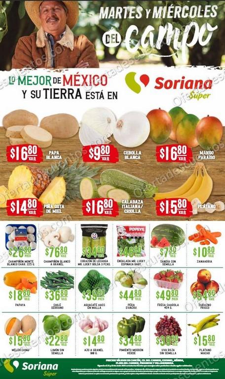 Soriana Super: Ofertas en Frutas y Verduras 22 y 23 de Junio 2021