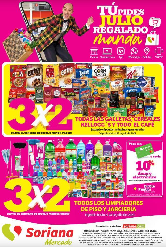 Folleto de Ofertas Julio Regalado 2021 Soriana Mercado del 23 al 29 de Julio