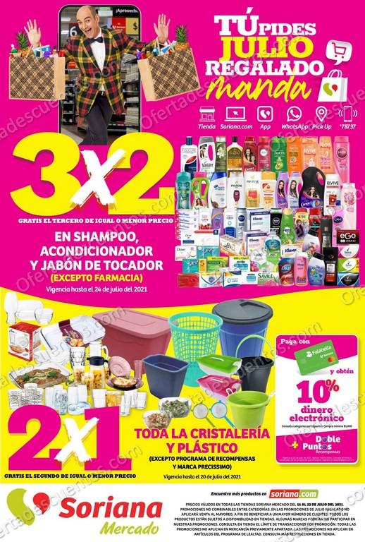 Folleto de Ofertas Julio Regalado 2021 Soriana Mercado del 16 al 22 de Julio