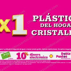 Oferta Estelar Julio Regalado 2021 Soriana: 2×1 en Todos los Plástico del Hogar y Cristalería