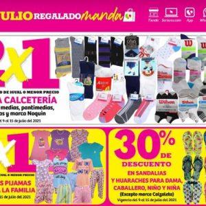 Oferta Estelar Julio Regalado 2021 Soriana: 2×1 en Calcetería y Todas las Pijamas