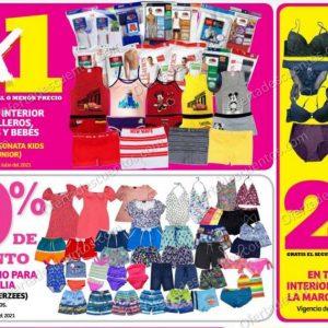 Oferta Julio Regalado 2021 Soriana: 2×1 en Ropa Interior Para Caballeros, Niños, Niñas y Bebés