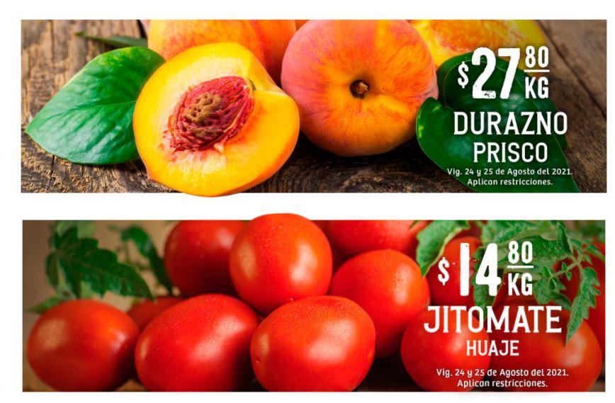 Ofertas en Frutas y Verduras Soriana Hiper 24 y 25 de Agosto 2021