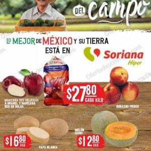 Ofertas en Frutas y Verduras Soriana Hiper 3 y 4 de Agosto 2021