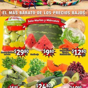 Ofertas en Frutas y Verduras Soriana Mercado del 31 de Agosto al 2 de Septiembre 2021