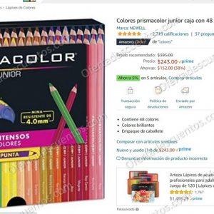 Amazon: Colores Prismacolor Junior 48 piezas $243