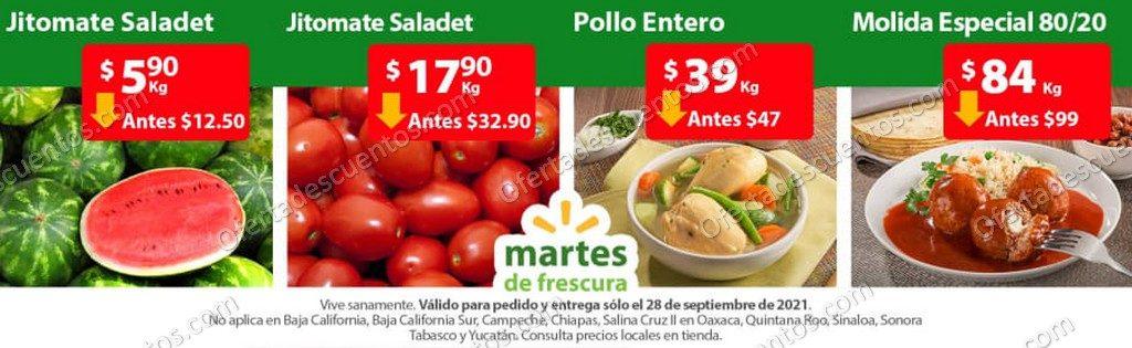 Ofertas en Frutas y Verduras Martes de Frescura Walmart 28 de Septiembre 2021