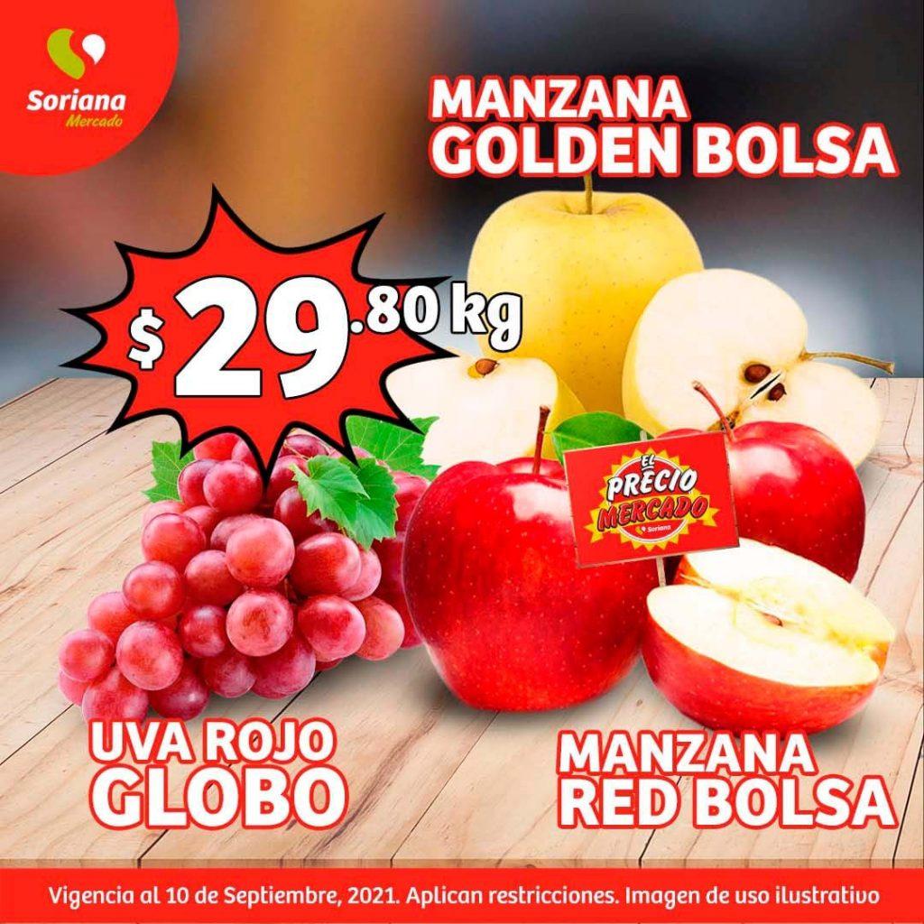 Ofertas en Frutas y Verduras Soriana Mercado del 7 al 9 de Septiembre 2021