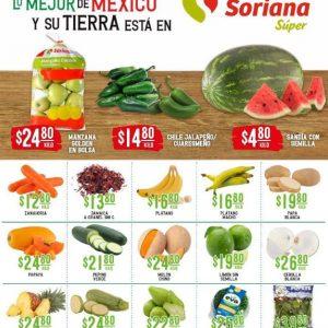 Ofertas en Frutas y Verduras Soriana Super 28 y 29 de Septiembre 2021