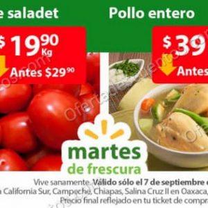 Ofertas en Frutas y Verduras Martes de Frescura Walmart 7 de Septiembre 2021