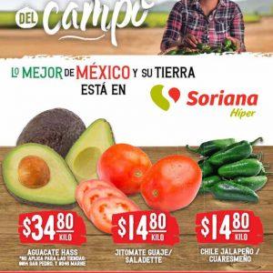 Ofertas Frutas y Verduras Soriana Hiper 14 y 15 de Septiembre 2021