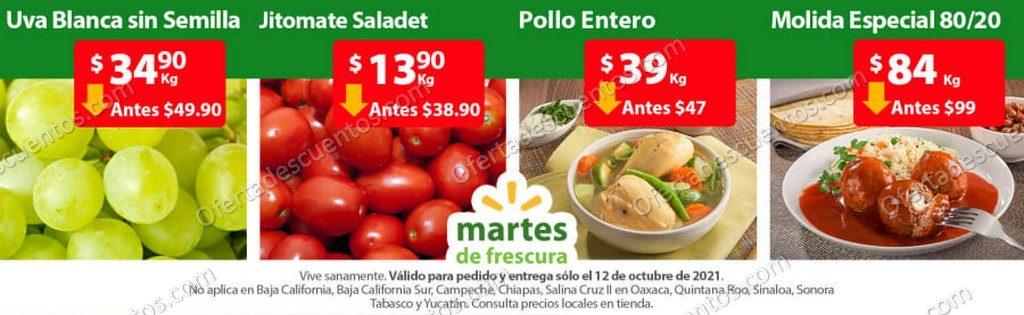 Ofertas en Frutas y Verduras Martes de Frescura Walmart 12 de Octubre 2021