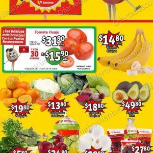 Ofertas en Frutas y Verduras Soriana Mercado 12 y 13 de Octubre 2021
